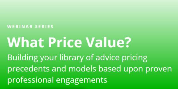 What Price Value Webinar Series
