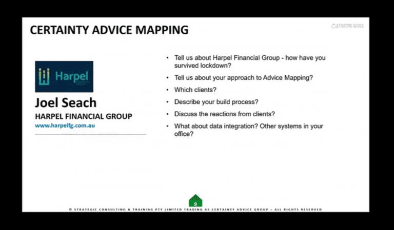 Joel Seach –  How Advice Maps reinforce my role as a Comprehensive Adviser