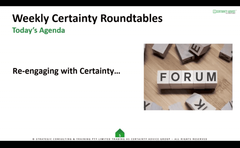 Forum – Re-engaging Certainty Clients