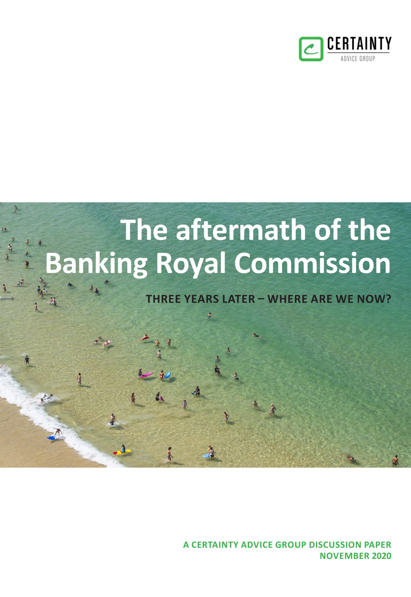 'The Aftermath of the Banking Royal Commission' White Paper