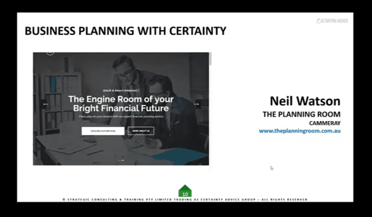 Neil Watson, The Planning Room – 2021 Business Planning